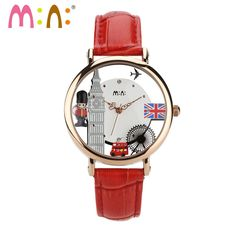 M:N: Handmade 3D PPOLYMER CLAY Quartz Casual Watch Women Ladies Dress Hollow design Children girl Cartoon wristwatch-London time