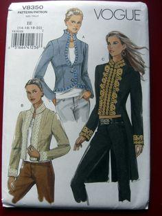 Vogue Schnittmuster 8350 Jacken Frack Gehrock EE 14-20   Bastel- & Künstlerbedarf, Nähen, Schnittmuster   eBay!