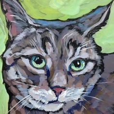 "Daily Paintworks - ""March 22, Cleo"" - Original Fine Art for Sale - © Kat Corrigan"