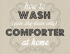 How To Wash A Comforter At Home - Spring Cleaning (Comforter Edition!) - #organizing_for_tranquility