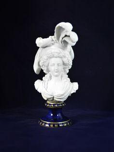 Antique Porcelain Parian Bust 19th Century by #MinistryOfArtifacts  #Antique #Parian #Bust #ParianBust