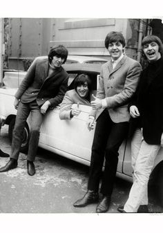 George Harrison, John Lennon, Paul McCartney, and Richard Starkey - Ringo's face is adorable!