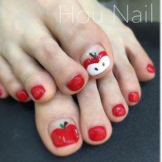 Uñas De Gel Diy Nail Designs, Colorful Nail Designs, Pedicure Nail Art, Toe Nail Art, Fruit Nail Art, Pretty Toe Nails, Plain Nails, Cat Nails, Finger