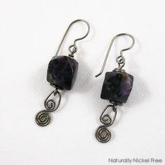 98d6000e0 River Creek Jasper Niobium Dangle Earrings with Labradorite Accent by Naturally  Nickel Free