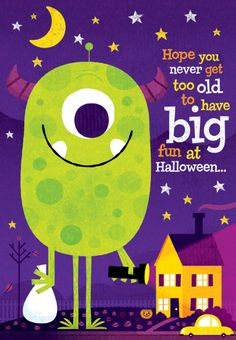 Cute Halloween card by Steve Mack