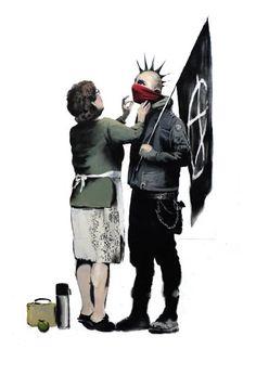 Muito cut cut este punk com sua mãe!