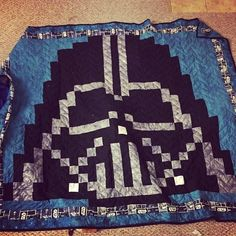 What's up fuckers. So my friend is a HUGE Star Wars fan, and naturally, she wanted a Darth Vader quilt. And since I'm the BEST PERSON EVER, I decided to make her one. Star Wars Darth, Darth Vader, American Flag Quilt, Star Wars Quilt, Place Mats Quilted, Bird Quilt, Quilt As You Go, Winter Quilts, Baby Quilts