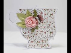 With Sympathy tea cup card By Anita Bownds - YouTube