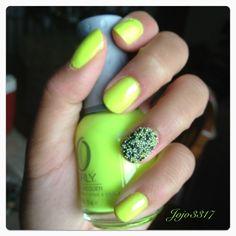 #caviar neon nails (: