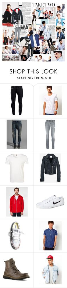 """""""We danced all night to the best song ever"""" by brofeysons ❤ liked on Polyvore featuring Diesel, American Apparel, Topman, IRO, NIKE, Converse, ASOS, Tommy Hilfiger and Joyrich"""