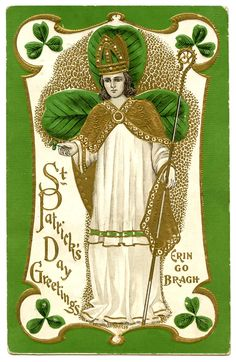 Vintage St Patrick's Day Clip Art - St. Pat - The Graphics Fairy