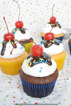 Amy's Confectionery Adventures: Ice Cream Sundae Cupcakes