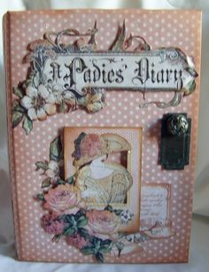 A very stunning album made by @Clare Charvill with our A Ladies' Diary collection! You can see it on the Paper Crafter's Library blog today. So beautiful! #graphic45