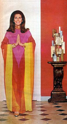 Nellie hoped her Aunt Jasmine didn't forget the snakes for entertainment.  Dior Chiffon dress1967