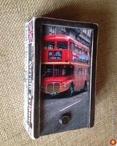 """Короб""""Лондон"""" (ПРОДАН) - Авторская работа, авторская шкатулка/копилка. МегаГрад - online выставка-продажа авторской ручной работы"""