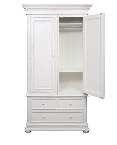 White Timber 2 Door Wardrobe – Allissias Attic & Vintage French Style