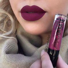 """""""Berry Recognize"""" Megalast Liquid Catsuit Matte Lipstick by Wet n' Wild: I love this plum color Lip Make up Makeup Goals, Love Makeup, Makeup Tips, Beauty Makeup, Makeup Ideas, Beauty Tips, Makeup Stuff, Gorgeous Makeup, Beauty Secrets"""