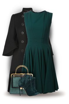 """""""Dark Colours for Fall (OUTFIT ONLY!)"""" by bliznec-anna ❤ liked on Polyvore featuring Alexander McQueen, Elie Saab and Casadei"""