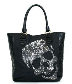 Loungefly Metallic Skull Tote - Love this and it reminds me of @Theresa Burger Borowski :)
