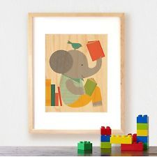 adorable prints on wood for a kid's room