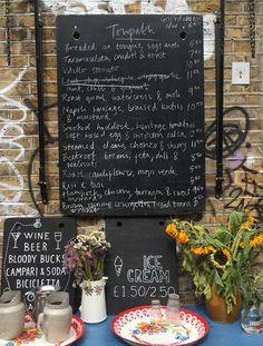 de beauvoir town, towpath cafe menu