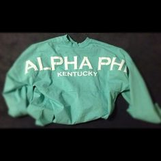 Alpha Phi spirit jersey