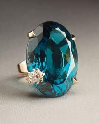 London Blue Topaz in yellow gold