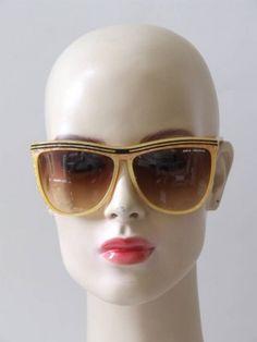 Vintage 80's Paco Rabanne gele zonnebril Paco Rabanne, Vintage