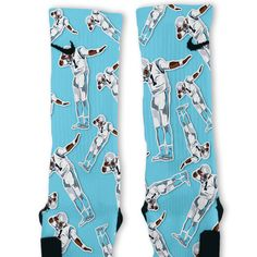 Cam Newton Dab White Custom Nike Elite Socks – Fresh Elites