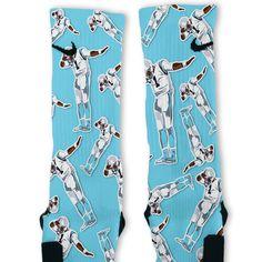 Cam Newton Dab White Custom Nike Elite Socks – Fresh Elites