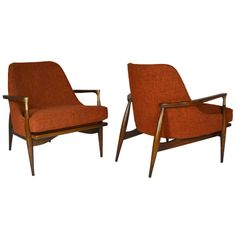 Pair of Lounge Chairs by Ib Kofod-Larsen | From a unique collection of antique and modern lounge chairs at http://www.1stdibs.com/furniture/seating/lounge-chairs/
