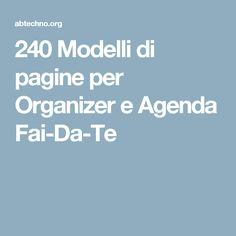 240 Modelli di pagine per Organizer e Agenda Fai-Da-Te