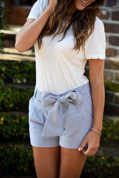 Bow shorts are always appropriate! #LaurenJames #LifeIsBetterInLJ