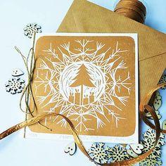 Vianočná pohľadnica * Strom vo vločke
