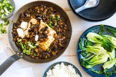 Sichuan mapo tofu met aubergine en gestoomde paksoi | Marley Spoon