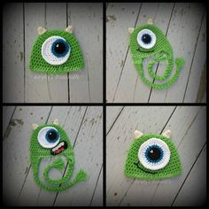 Mike from Monsters Inc Crochet Hat  - via @Craftsy