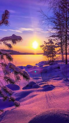 Colorful Winter Day IPhone Wallpaper - IPhone Wallpapers