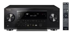 Pioneer SC-1323-K With Front Panel Open - The Pioneer SC-1323-K is a 7.2-channel Network Ready receiver that features Class D3 Amplification and 3D and 4K Ultra HD upscaling and pass-through. Read the full Pioneer SC-1323-K review. #pioneeravreceivers #pioneer #avreceivers #pioneersc1323k #sc1323k
