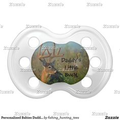 Personalized Babies Daddys Little Whitetail Buck Pacifier Whitetail Buck, Cades Cove, Great Smoky Mountains National Park. I took this photo in the morning not long after sunrise. There was some light fog with some sun filtering through. Great for the baby - infant of a hunter, hunting guide, outdoors man or woman, sportsman or animal lover. Great baby shower gift