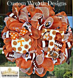 Hey, I found this really awesome Etsy listing at https://www.etsy.com/listing/198856207/deco-mesh-tennessee-vols-mesh-wreath