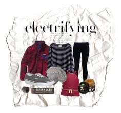 """""""College Cozy"""" by elenalake on Polyvore featuring NIKE, Patagonia, MICHAEL Michael Kors, Vans, Burt's Bees, women's clothing, women's fashion, women, female and woman"""