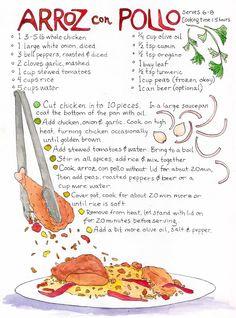 Arroz con pollo es mi comida favorita