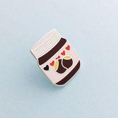 Nutella émail Pin Badge épinglette cravate Pin  par fairycakes