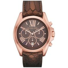 cool Women's Gold Tone Stainless Steel Quartz Chronograph Leather Strap  –  Chronograph