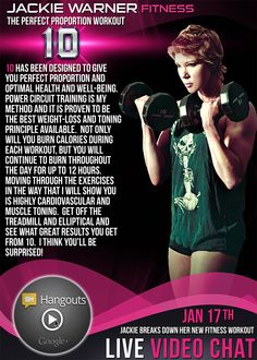 """My 2015 upcoming workout program called """"10"""" Jackie Warner, Health And Wellness, Health Fitness, Circuit Training, Back On Track, You Are Perfect, Burn Calories, Best Weight Loss, Workout Programs"""