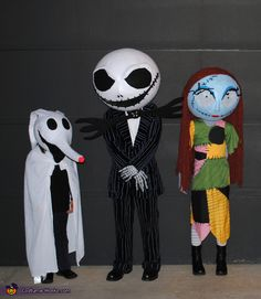 Nightmare Before Christmas Kids - Halloween Costume Contest via @costumeworks Maybe I can talk Zander into being this kind of Santa Claus.