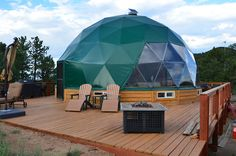 Colorado Living Dome - Tiny House Swoon by chrystal Dome Structure, Geodesic Dome Homes, Tiny House Swoon, Dome Tent, Dome House, Earth Homes, Little Houses, Architecture Design, Sustainable Architecture
