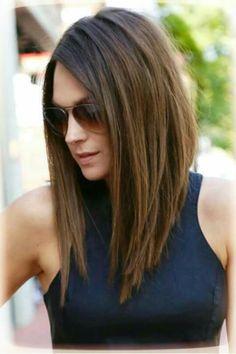 Medium lenght hair style.