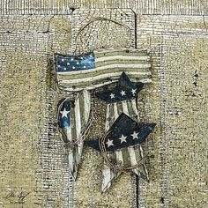 Door decoration with united states flag.  Patriotism, usa, america, home, freedom, rustic, old - Aaron Spong