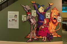 Characters from L. Frank Baum's book, The Wonderful Wizard of Oz, act as tour guides throughout the museum.